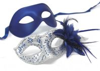 Blue and Silver Flower Masks